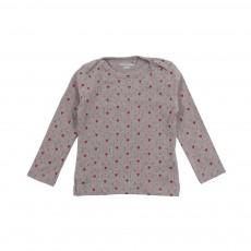 T-shirt Cœurs Gris chiné