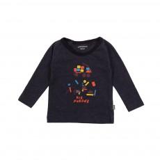 T-shirt Kid Forever  Bleu nuit
