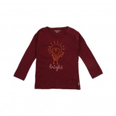 T-shirt Ampoule Cœur Bright Bordeaux