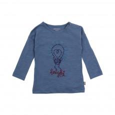 T-shirt Ampoule Cœur Bright Bleu