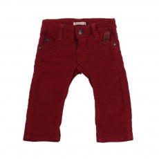 Pantalon velours slim  Bordeaux