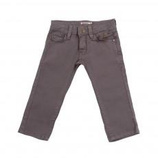 Pantalon slim Gris