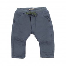 Pantalon toile Bleu