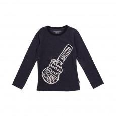 T-shirt Guitare  Bleu nuit