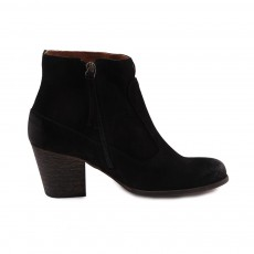 Bottines Suede Claudia  Noir