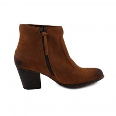 Bottines Suede Claudia  Camel