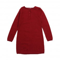 Robe Lurex Fossil Rouge