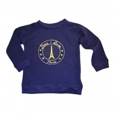 Sweat Paris James Bleu marine
