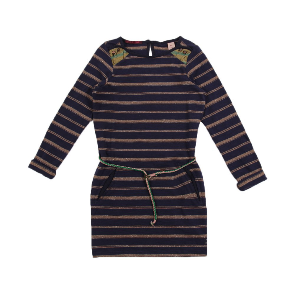 robe ray e bleu marine scotch soda mode ado smallable. Black Bedroom Furniture Sets. Home Design Ideas
