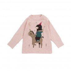 T-shirt Poney Rose chiné