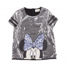 T-Shirt Tinnie Sequins Gris