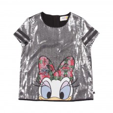 T-Shirt Taisy Sequins Gris