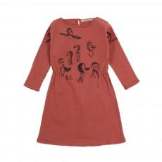 Robe Oiseaux Rose pêche