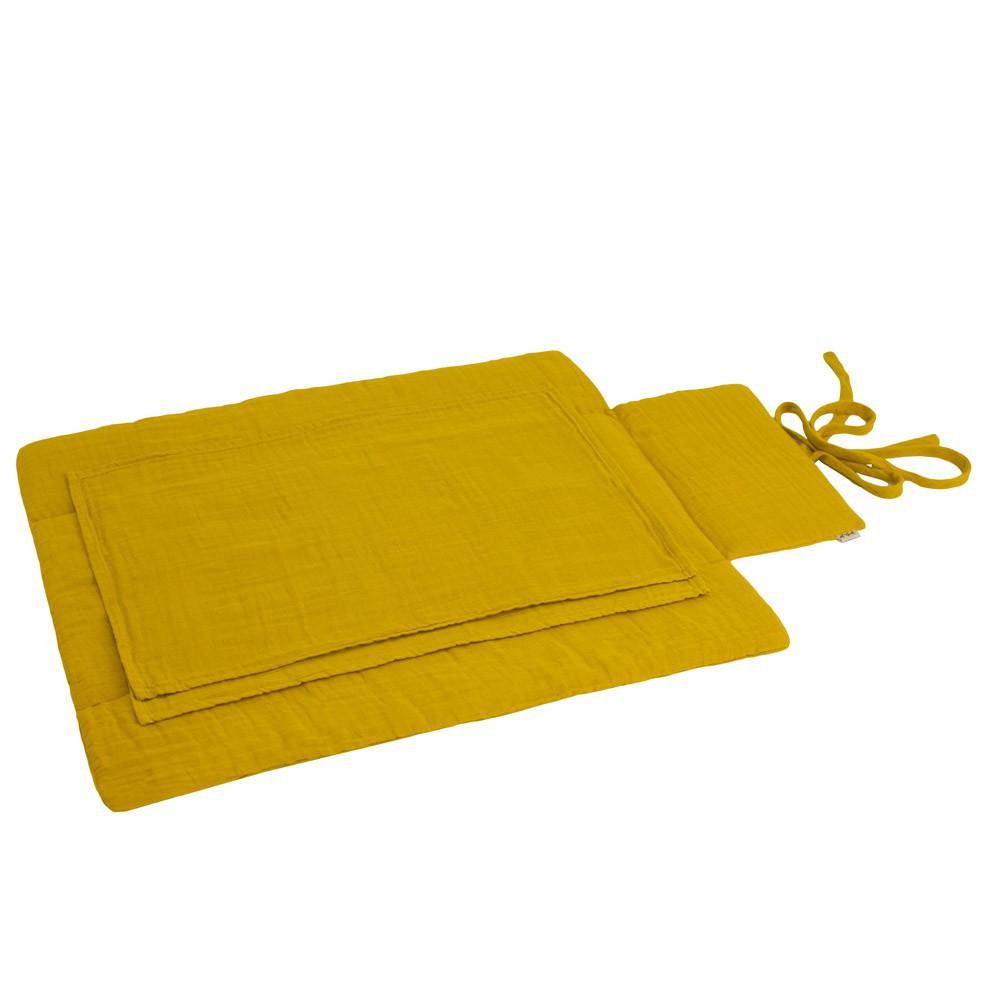 matelas langer de voyage jaune tournesol numero 74 univers b b smallable. Black Bedroom Furniture Sets. Home Design Ideas