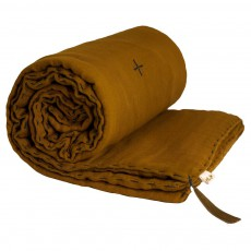 Couverture ouatinée - Jaune moutarde
