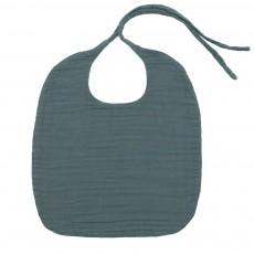 Bavoir rond - Bleu gris