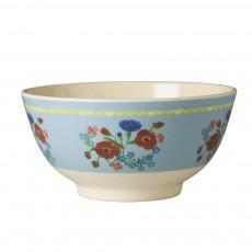 Bol à fleurs - Bleu ciel