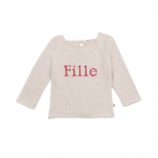 Pull Fille Ivoire