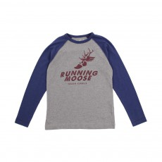 T-shirt Raglan Running Moose Gris