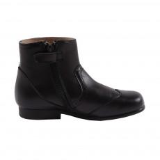 Boots Cuir Jodie Noir