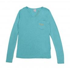 T-shirt Angel Bleu turquoise
