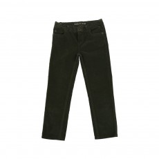Pantalon Velours Vert kaki