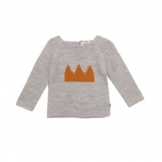 Pull Couronne Gris clair