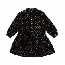 Robe Velours Ines Noir