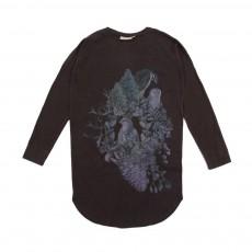 Robe T-shirt Oiseaux Gris foncé