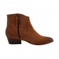 Bottines Suede Fiona Camel