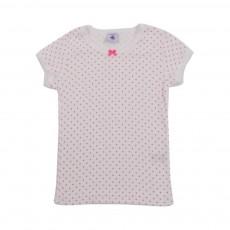 T-Shirt Fluo D'Etoiles Blanc