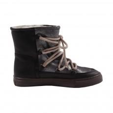 Boots Paillettées Gris anthracite