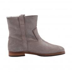 Boots Fourrées Paillettes Beige