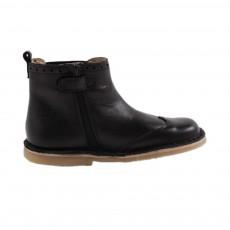 Boots Cuir Elastique Bugsy Noir