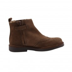 Boots Cuir Elastique Bugsy Taupe