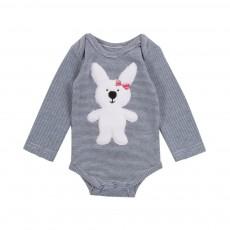 Body Cuttie Bunny Bleu marine - Ecru