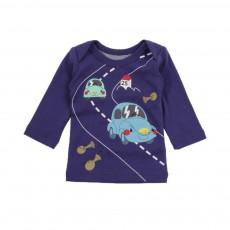 T-shirt Happy Car Bleu marine