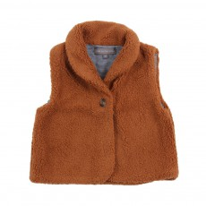 Gilet Imitation fourrure Victor Marron
