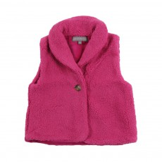 Gilet Imitation fourrure Victor Rose