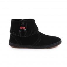 Boots Zippées Franges Pepper Noir