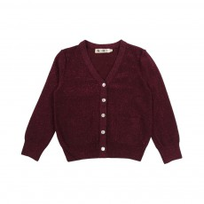 Cardigan Lurex Prune