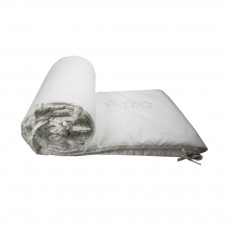 Tour de lit Jiji blanc - Etoiles grises