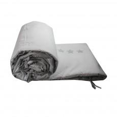 Tour de lit Jiji gris - Etoiles blanches