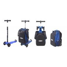 Trottinette Maxi Micro 4en1 avec sac - Bleu