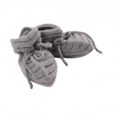 Chaussons Tricot Gris clair