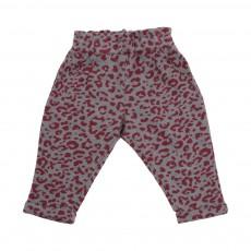 Pantalon Léopard Yoyo Bordeaux