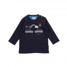 T-shirt Go Bleu marine