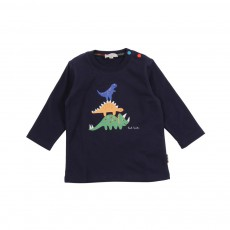 T-shirt phosphorescent Geoffrey Bleu marine