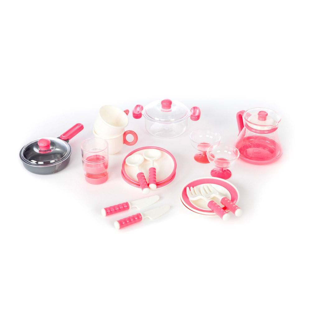 batterie de cuisine rose barrutoys jeux jouets loisirs enfant smallable. Black Bedroom Furniture Sets. Home Design Ideas