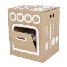 Cuisinière en carton